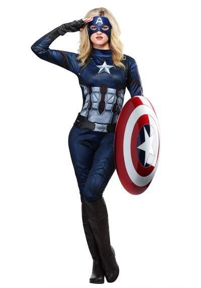 Halloween Costume Female Captain America 400