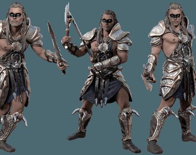 Halloween Costumes for Men Barbarian Warrior 400