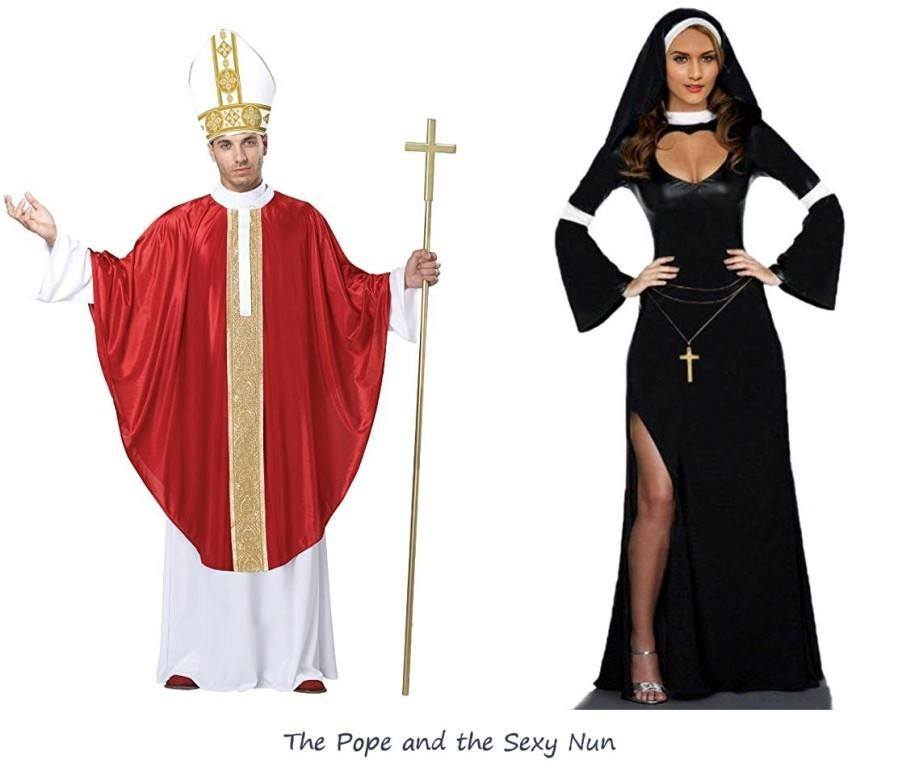 The Pope and the Sexy Nun Halloween Costume for Couples