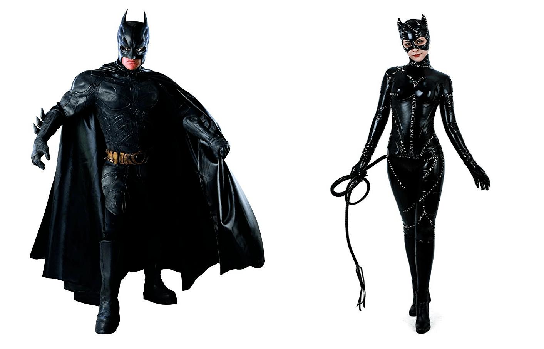 Halloween Costume Batman and Catwoman