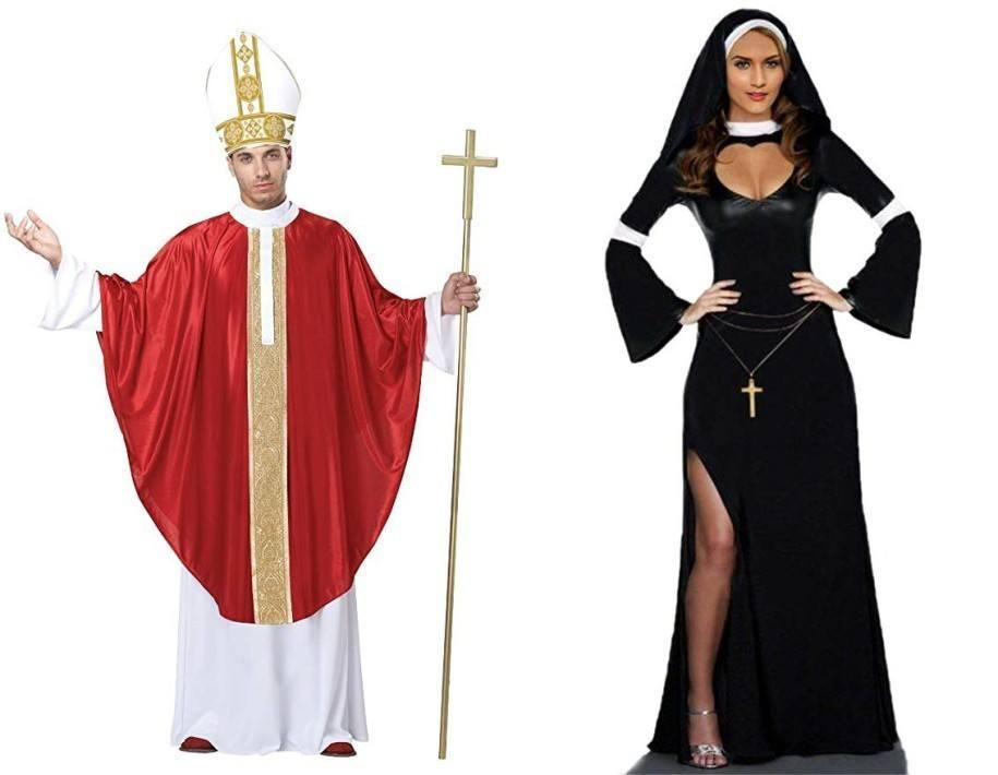 Halloween Costume the Pope and the Sexy Nun