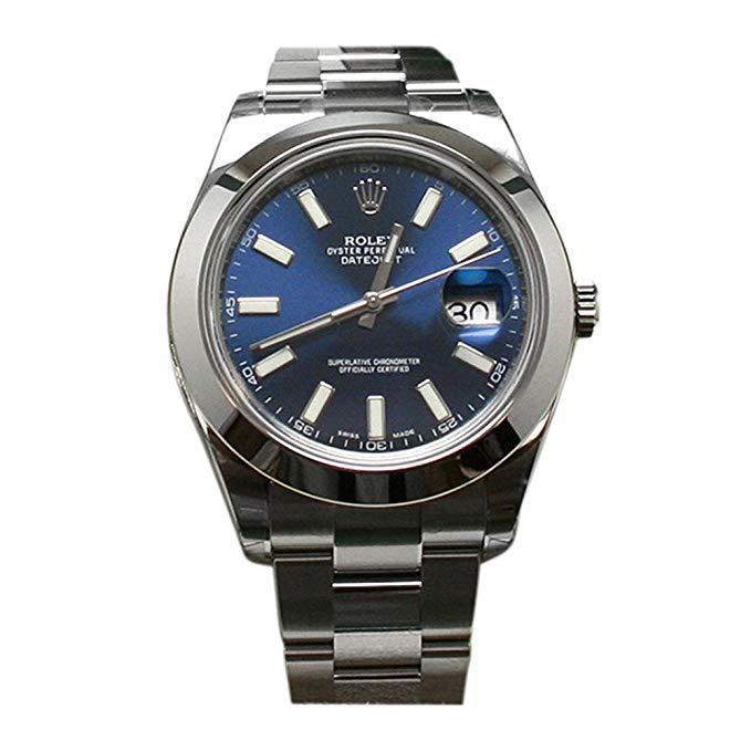 Rolex Datejust II 41 Blue Dial Steel Watch