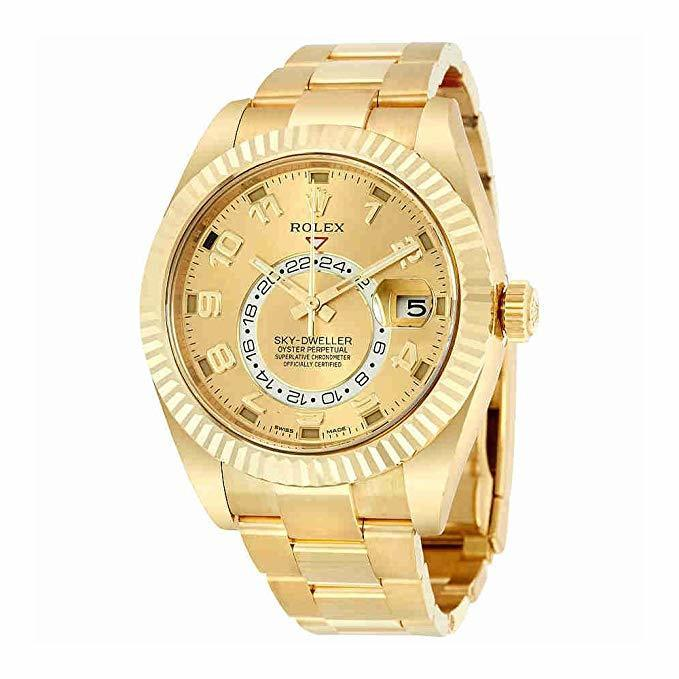Rolex Skydweller Champagne Dial Yellow Gold