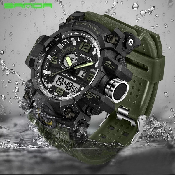 Sanda Mens Military Watch