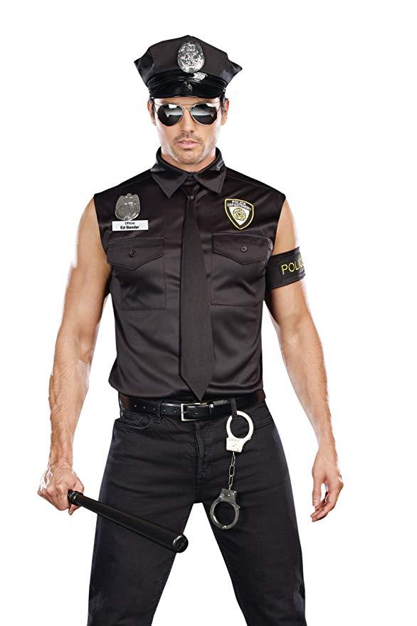 Halloween Costume Police Officer Ed Banger