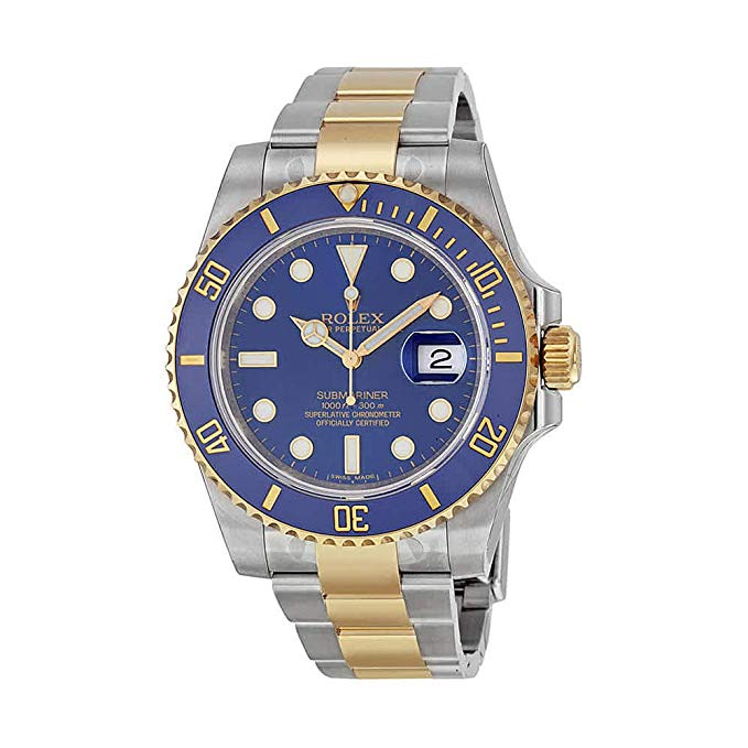 Rolex Submariner Blue Dial Gold and Steel