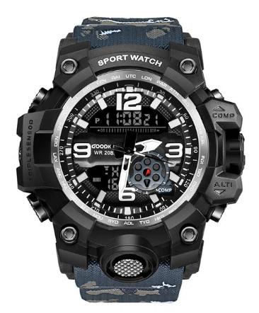 Waterproof Military Watch Digital Dual Display G Style Shock Black